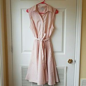 Larry Levine Blush Polka Dot Dress
